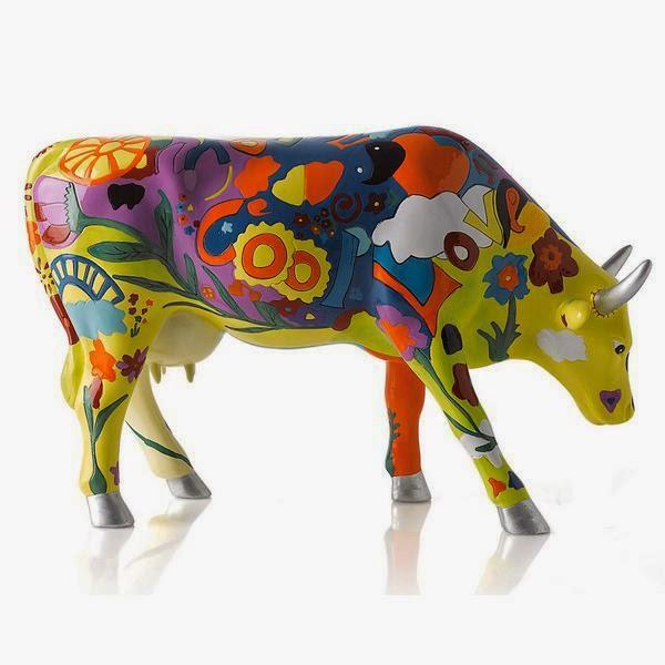 kolorowa krowa