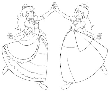 #4 Princess Peach Coloring Page