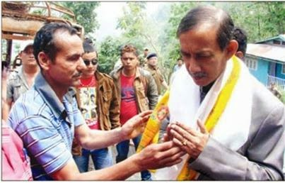North Bengal development minister Gautam Deb in Badamtam