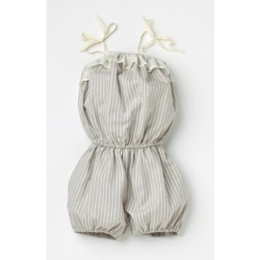 stun romper dovestripe 20% off at Small Concept