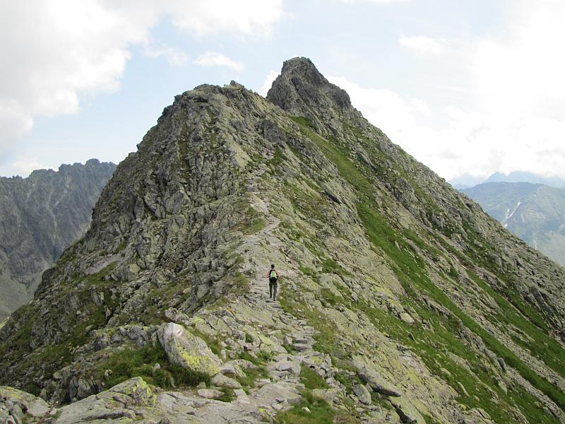 Ostatni garb przed szczytem Małego Koziego Wierchu.