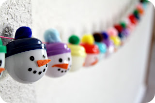 christmas crafts: snowmen advent garland