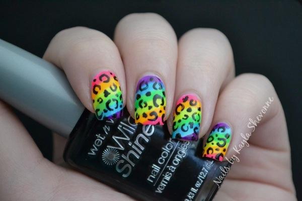 Nails by Kayla Shevonne: Nail Art Tutorial - Rainbow Leopard Print