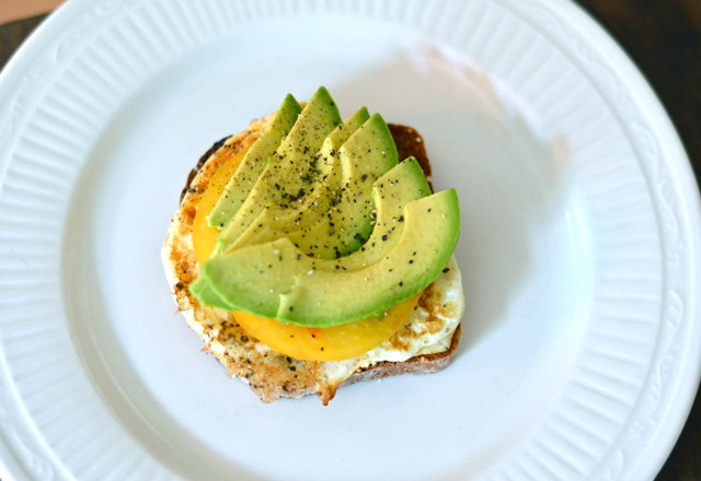 ... Pleasant Street: Open Face Egg Sandwich with Heirloom Tomato & Avocado