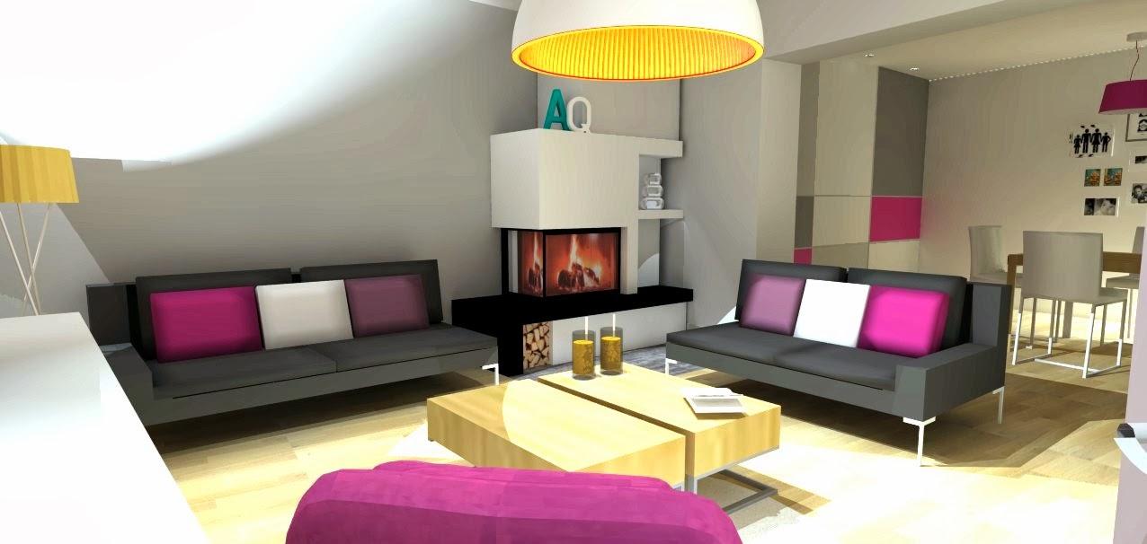 Dom jednorodzinny Sosnowiec  INSPIRA DESIGN projekty   -> Kuchnia W Kolorze Amarantowym