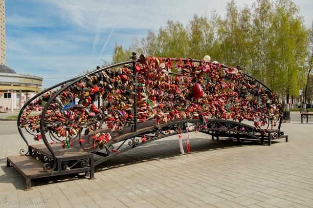 Путешествия: О жизни: Мост влюбленных Чебоксары