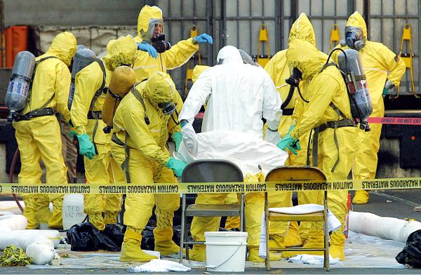 Anthrax decontamination.  From blogspot.com