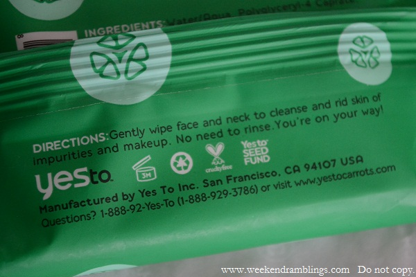 yes to cucumbers on the go travel towelettes makeup remover reviews wipes