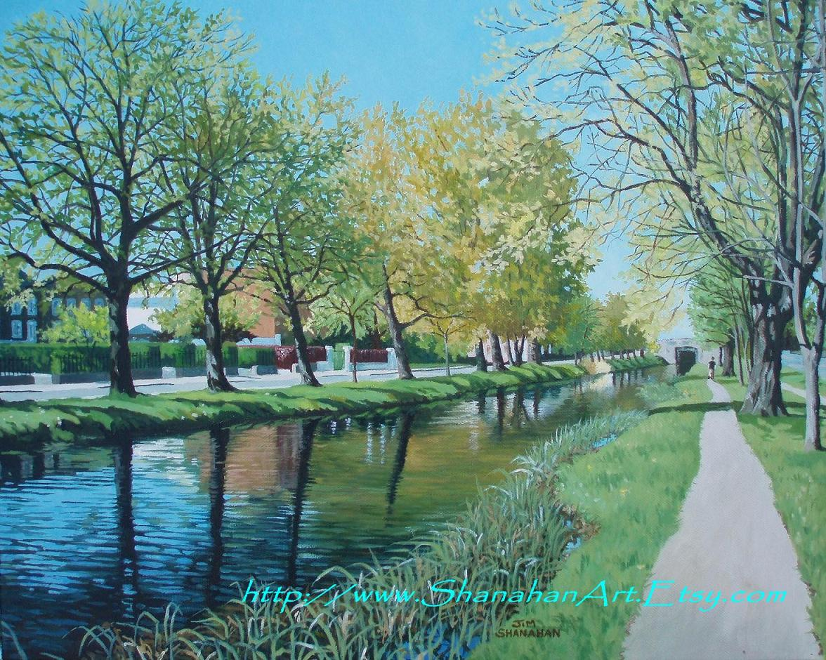 Late Spring on the Grand Canal Dublin -- Sold