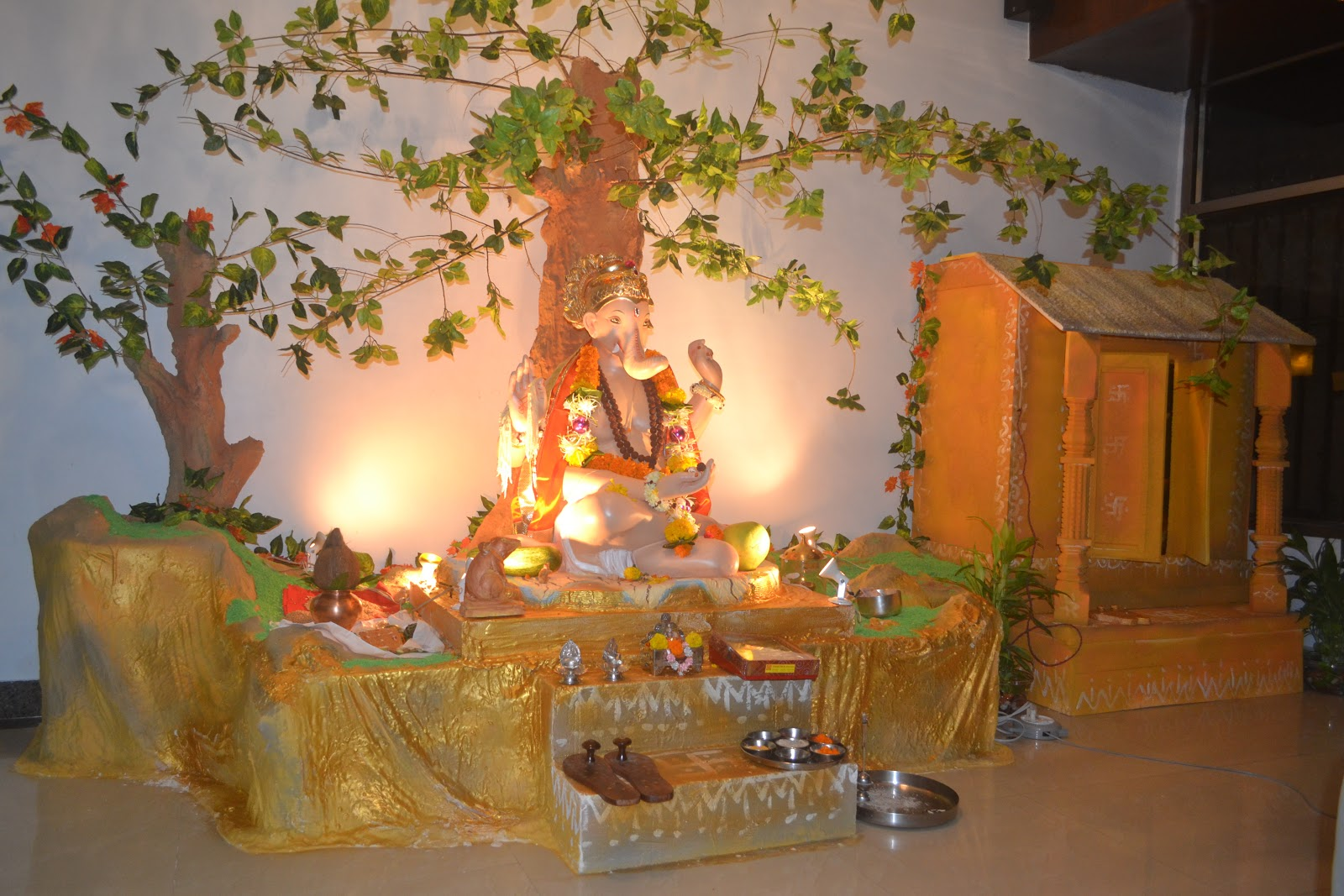 Magic holidays ganesh utsav 2012 decoration competition for Decoration ganpati