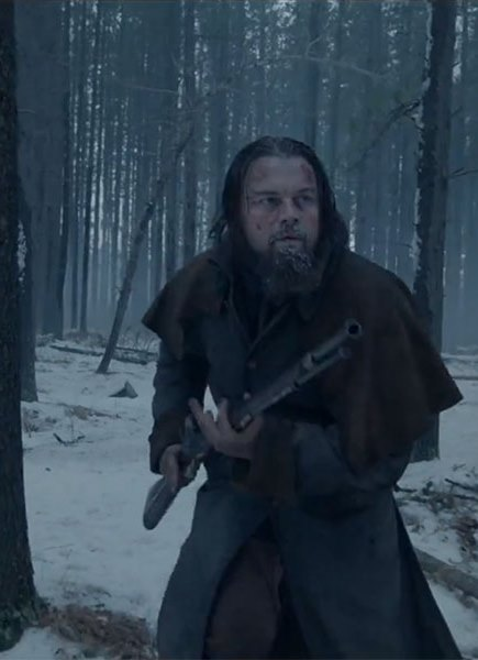 Leonardo DiCaprio, explorer Hugo Glass, in Alejandro Gonzalez Inarritu's The Revenant