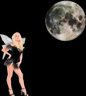 chica bajo la luna