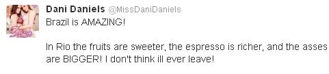 Dani Daniels Tweet
