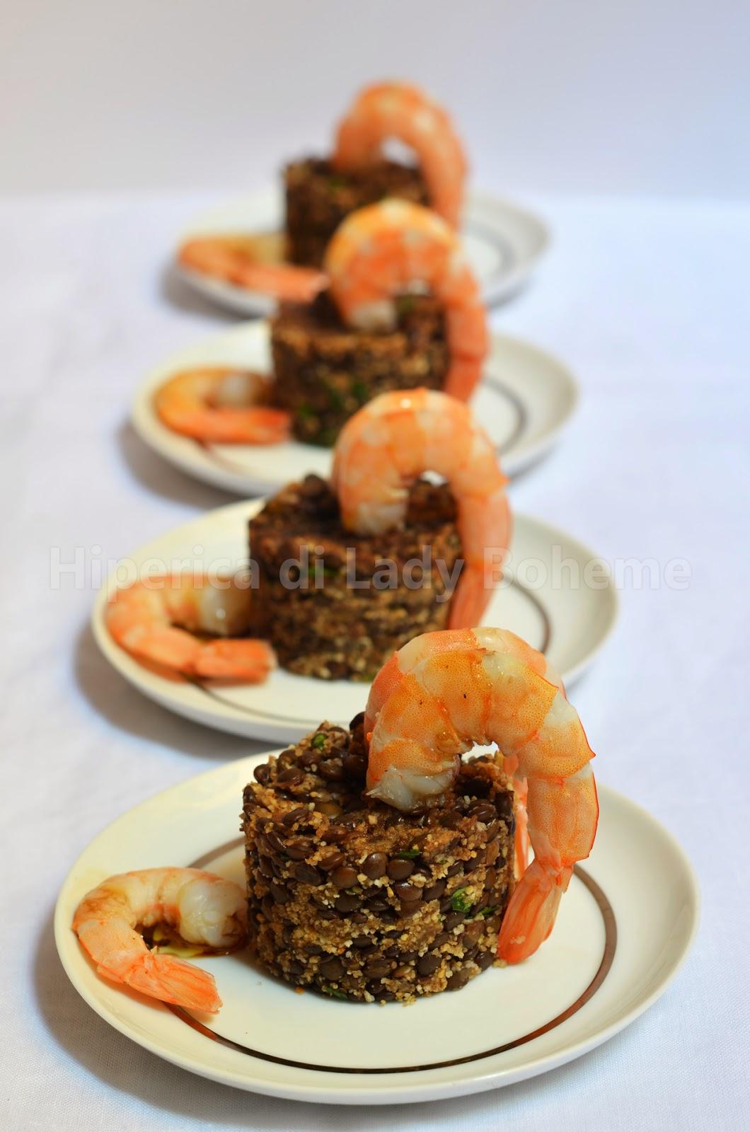 Hiperica di lady boheme antipasto con code di gamberi e for Ricette di cucina antipasti