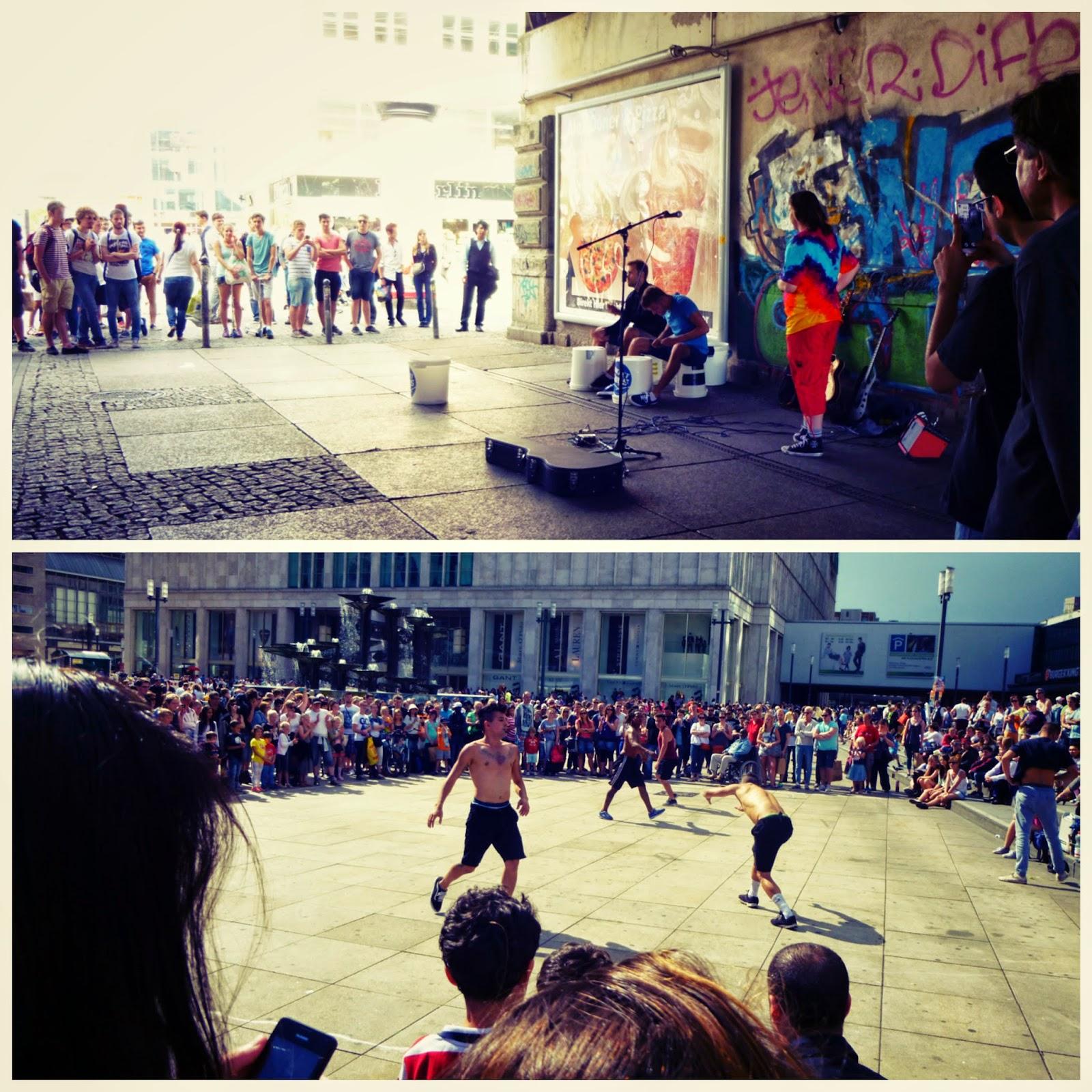 Alexander Platz Berlin Street Performers