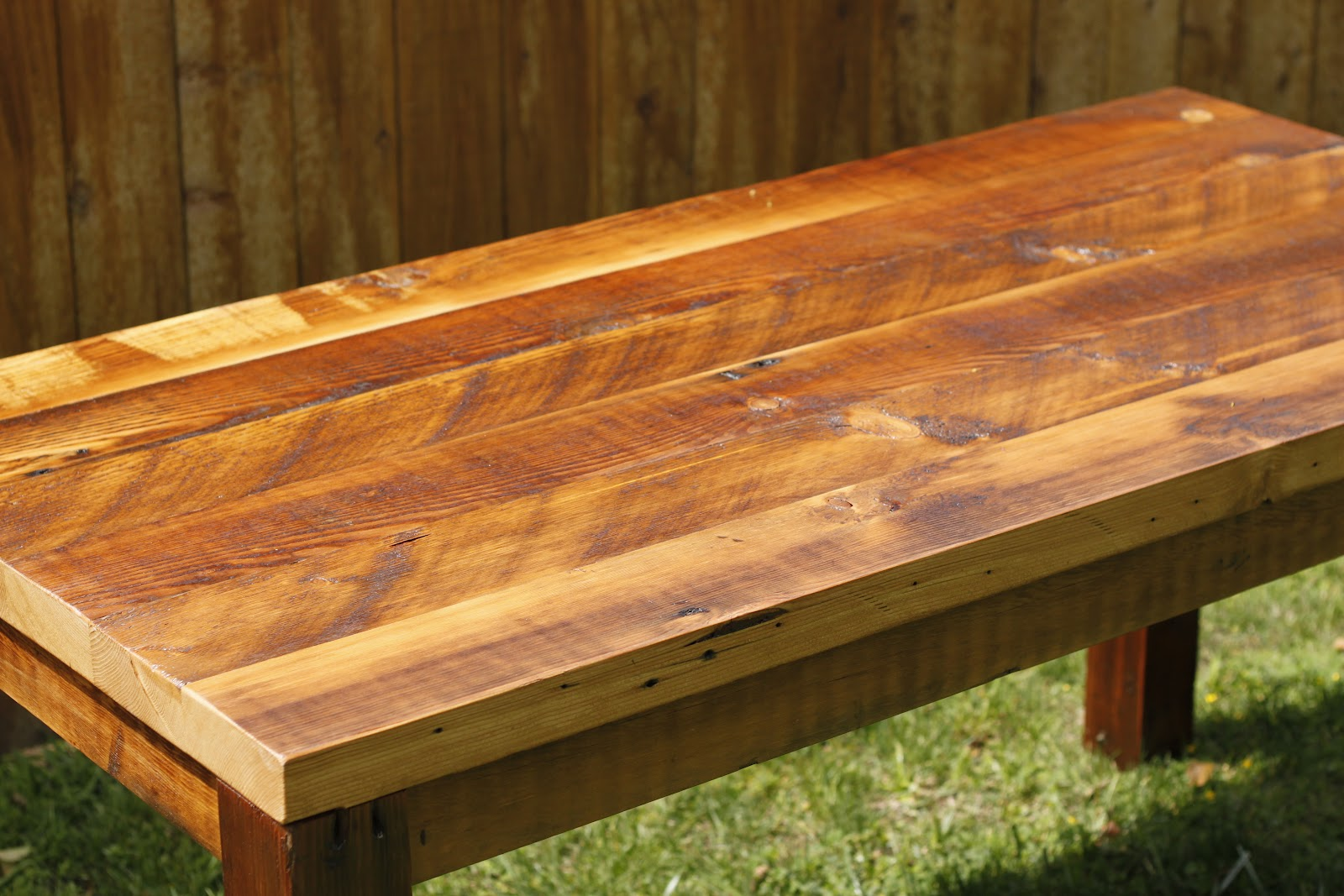 how to build a 4 post douglas fir table