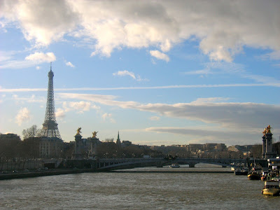 Eiffel Tower and Alexander Bridge