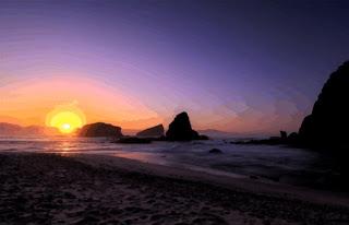 Sunset Pantai Papuma Jember Seperti di Hawai