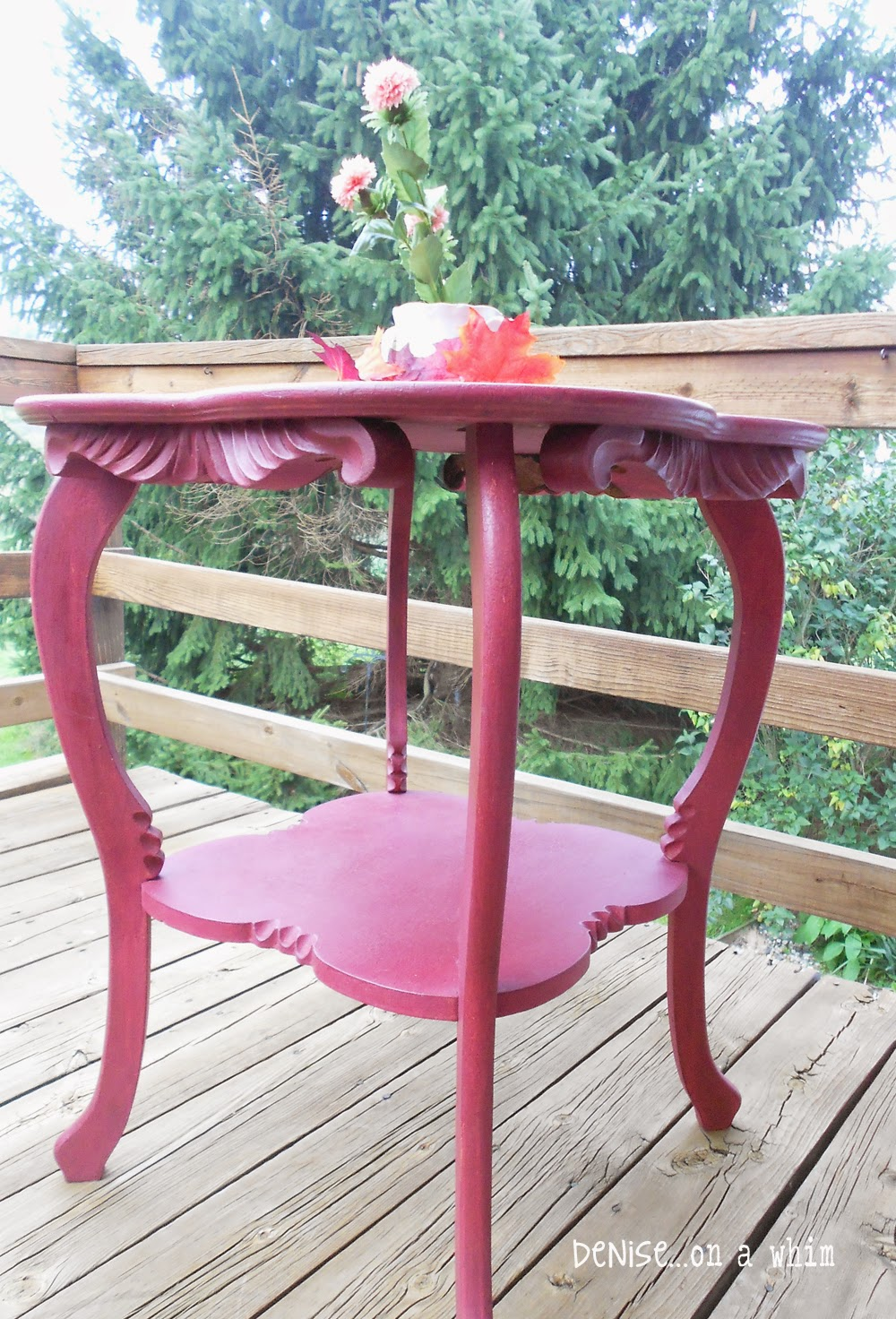 An Elegant Antique Table Makeover from Denise on a Whim