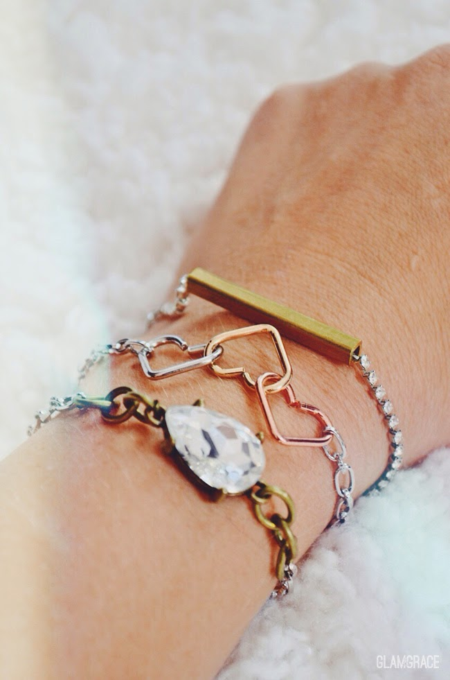 connecting hearts bracelet