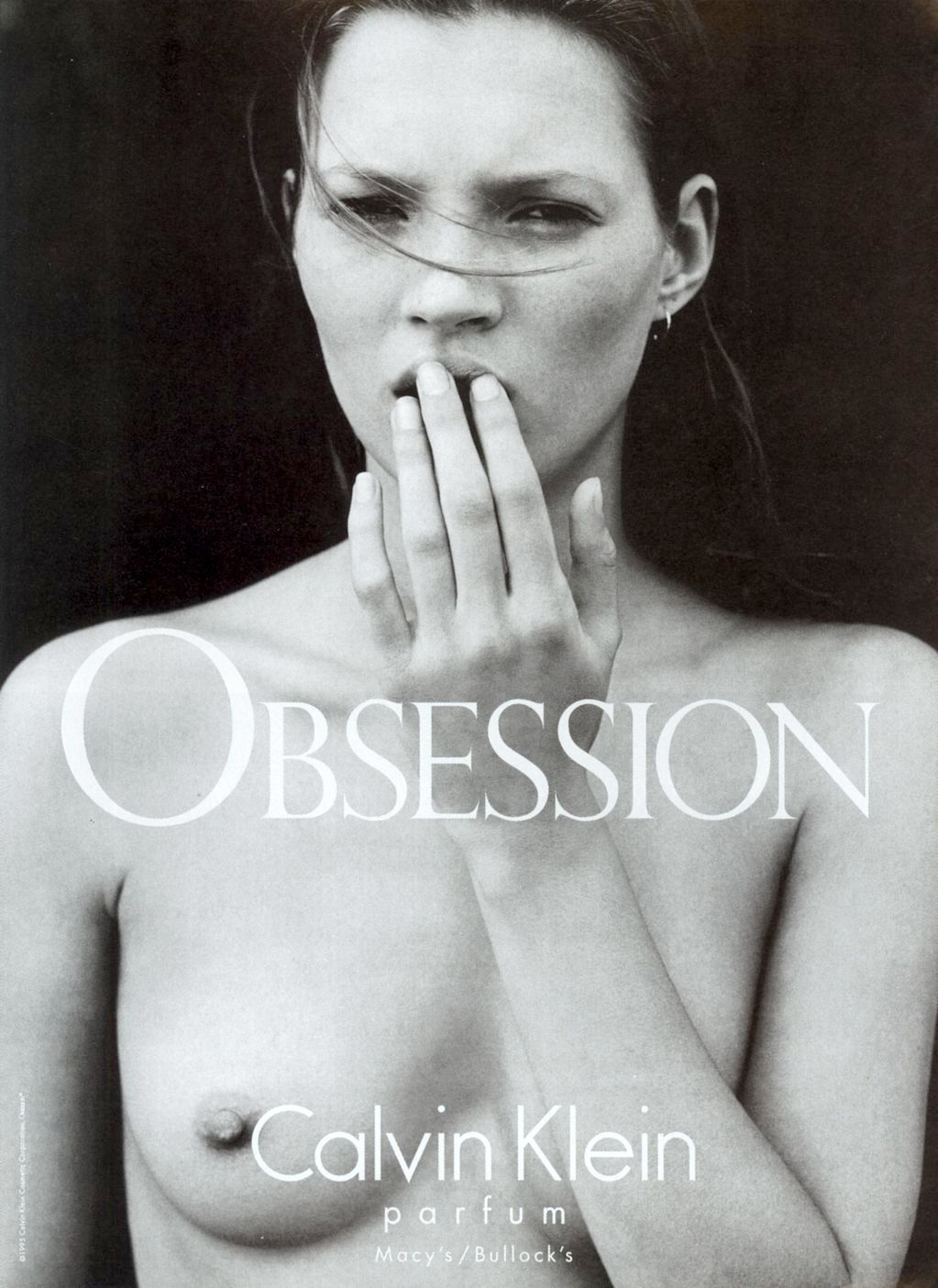 Kate Moss photographed by Mario Sorrenti for Obsession campaign 1995 / fashioned by love