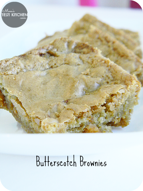Mom's Test Kitchen: Butterscotch Brownies