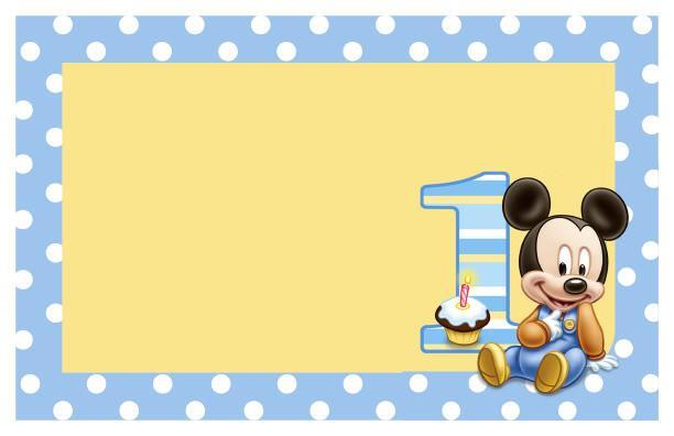 La super mamy semana de cumples mickey mouse beb - Feliz cumpleanos bebe 1 ano ...