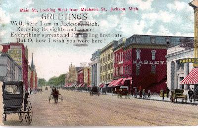 Big daddy dave postcards history past jackson mi for Jackson motors jackson tn