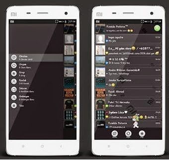 BBM MIUI Style Dark Versions