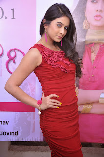 Harshika Pooncha latest Pictures in red 015.jpg