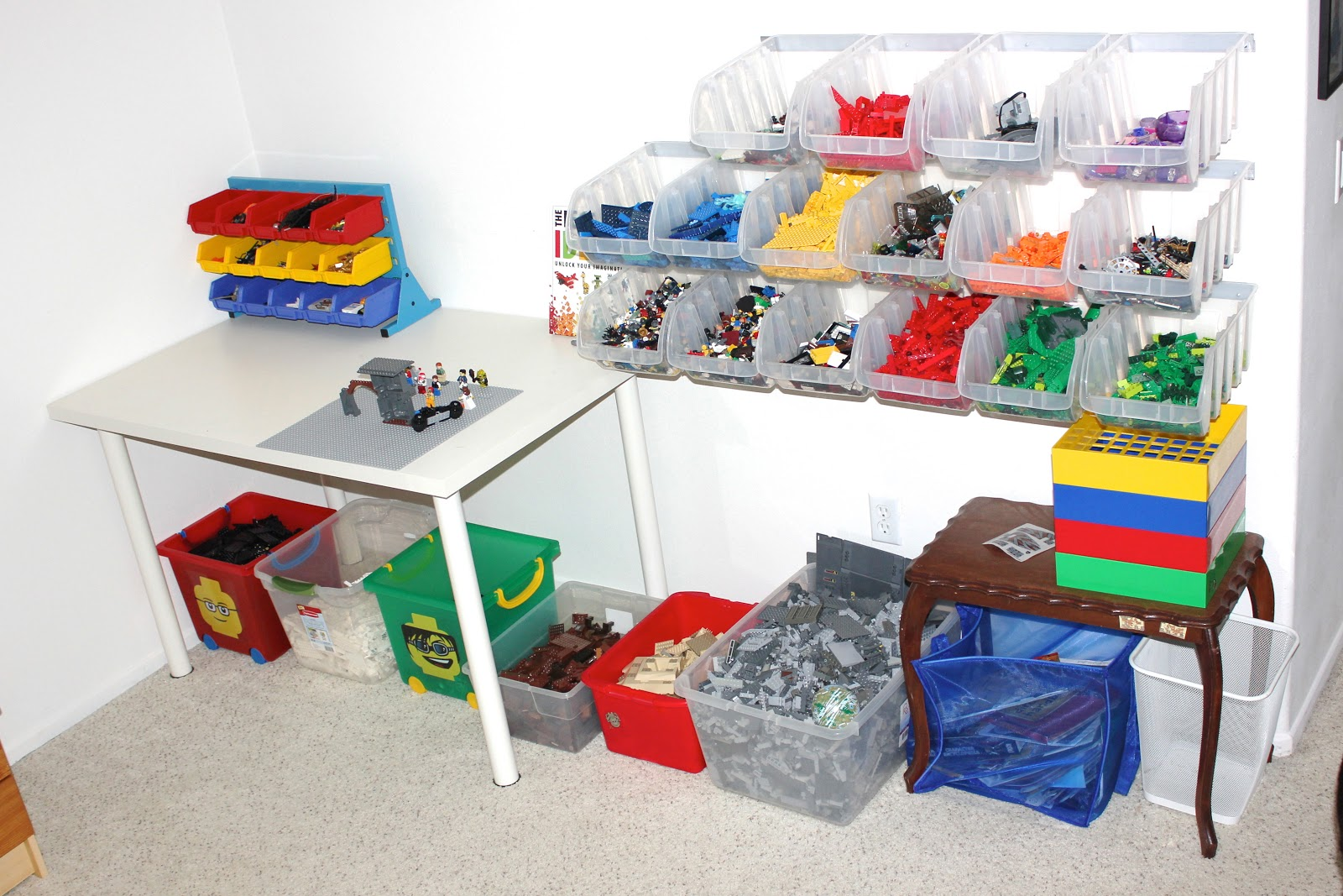 Simply organized simply done lego organization - Boite de rangement pour lego ...