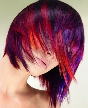 medium black red highlights