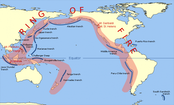 The Pacific Ring Of Fire Refers To The