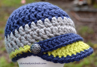 crochet Seahawks hat