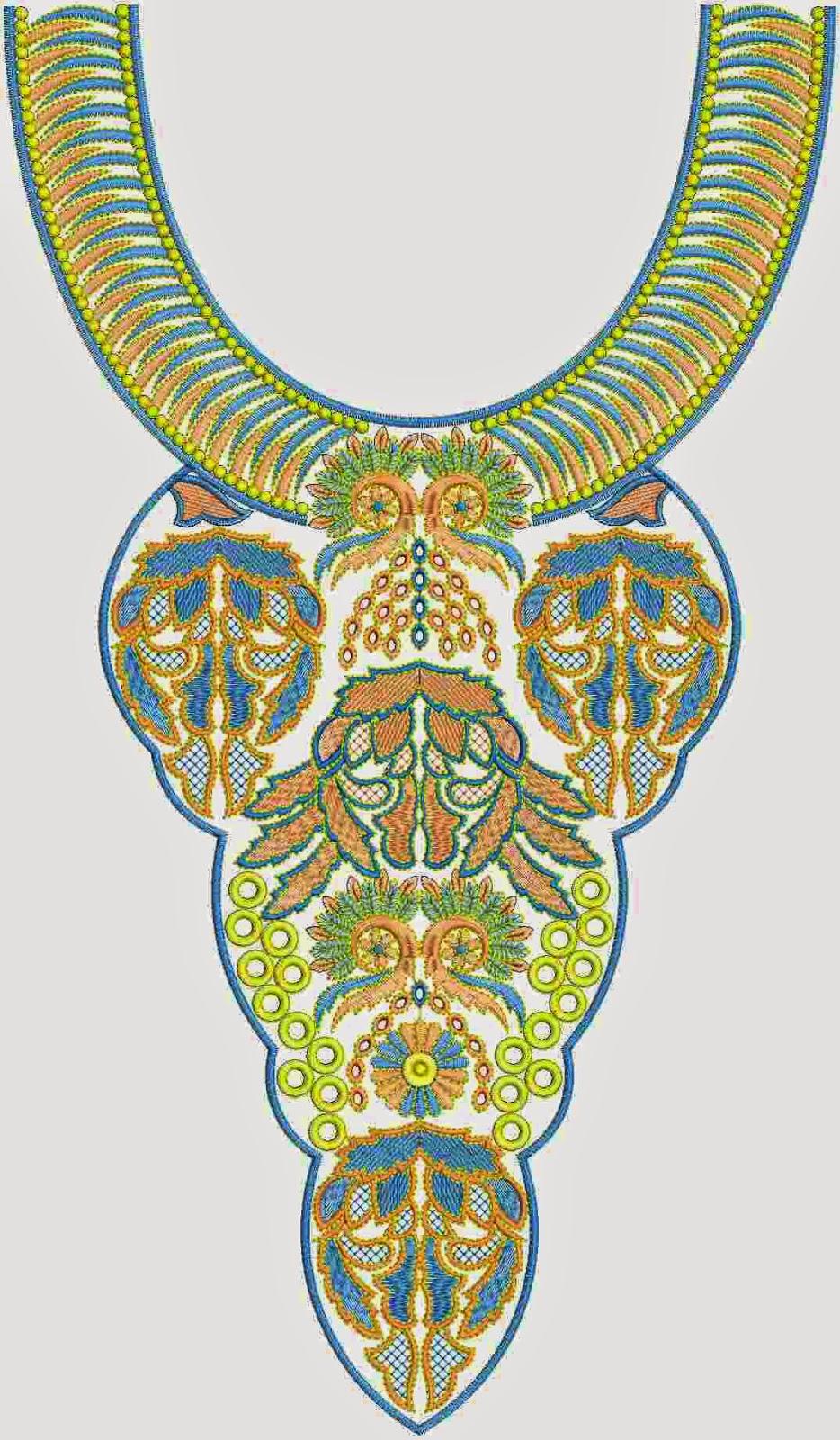 Katolieke borduurwerk nek ontwerp