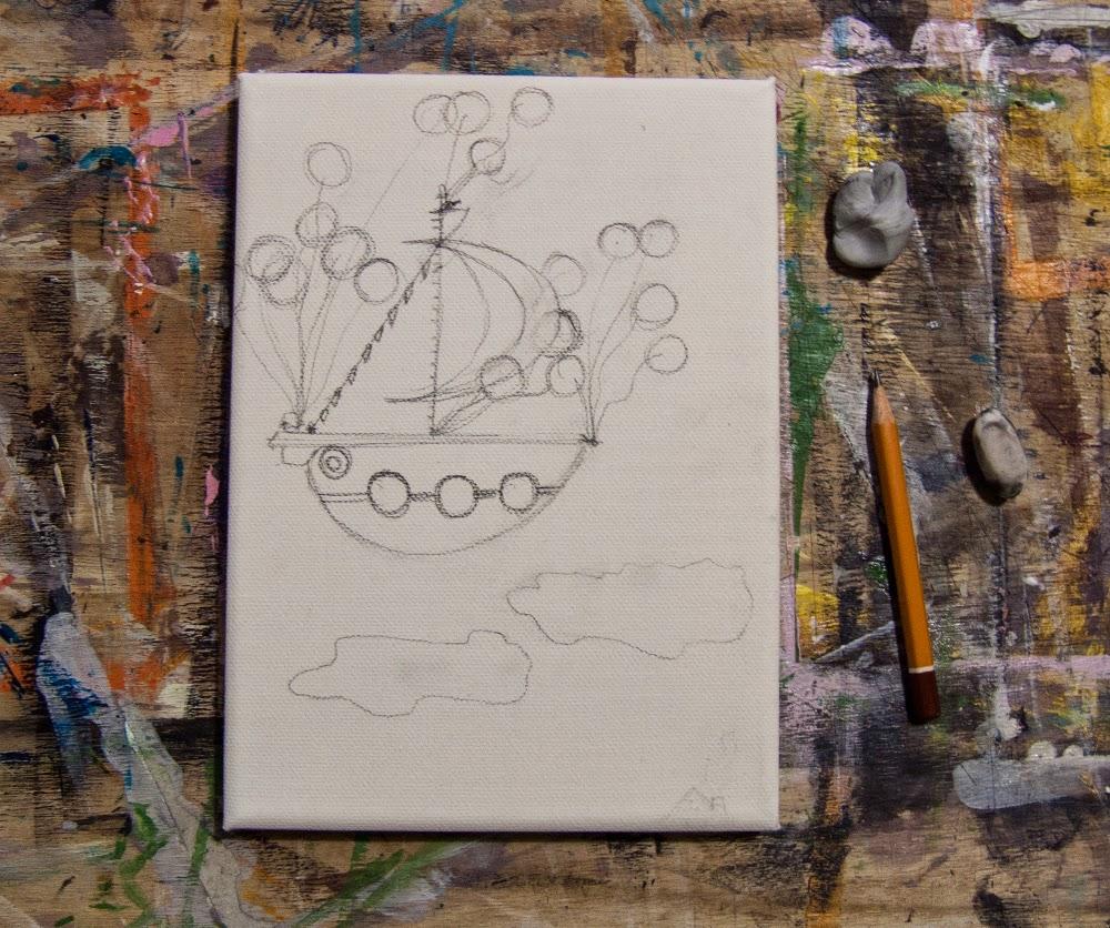 Il Veliero Volonate. Illustrazione Originale di Barbara Bisarello su CoCode Market & Studio