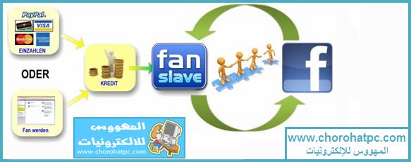 شرح طريقة كسب المال عن طريق الصفحات الاجتماعية من موقع fanslave