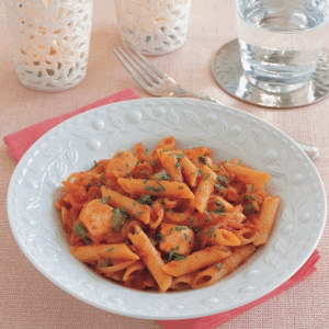 Brown Penne Pasta with Salmon Brown-Penne-Pasta-with-Salmon-Recipe