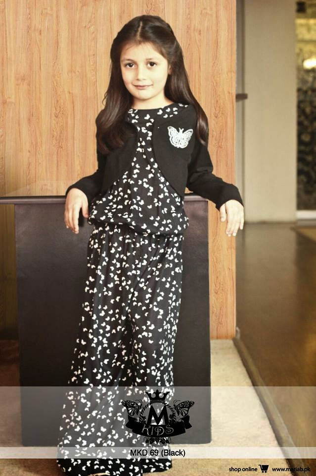 Embroidered &amp Fancy Maria B Kids Party wear Collection - Casual Dresses For Teenagers With Sleeves 2017