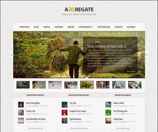 Aggregate WordPress Theme