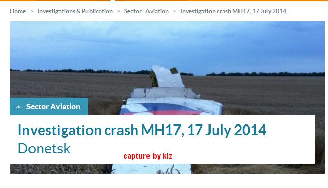 Laporan Awal Siasatan MH17 Di Laman Web Lembaga Keselamatan Belanda