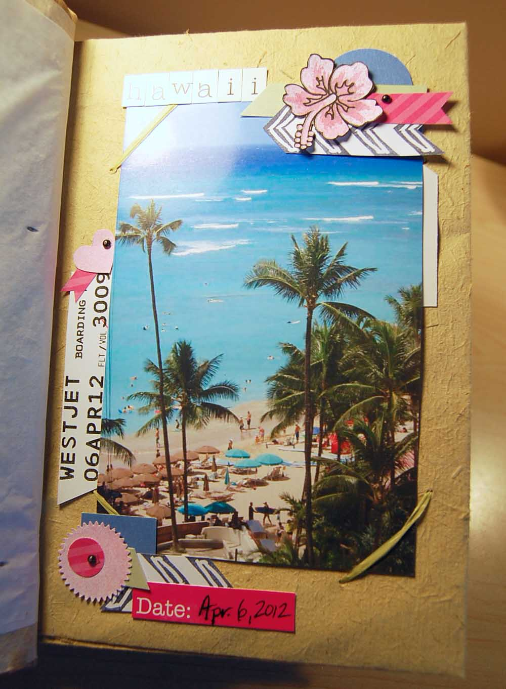 Scrapbook ideas hawaii -  Sorry For The Glare Hard To Hold The Book Open And Get A Good Shot
