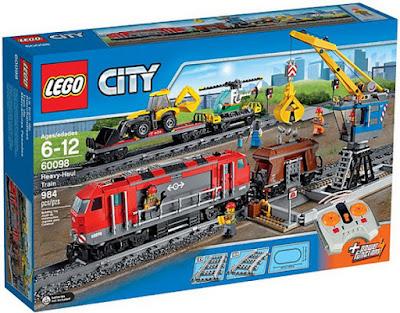 JUGUETES - LEGO City  60098 Tren de mercancias pesadas  Heavy-Haul Train  Producto Oficial 2015 | Piezas: 984 | Edad: 6-12 años