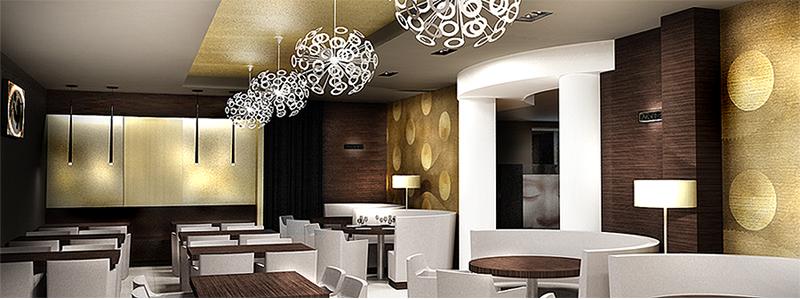Restaurant View 04. The Golden Club Restaurant & Dance design by Somerset Harris