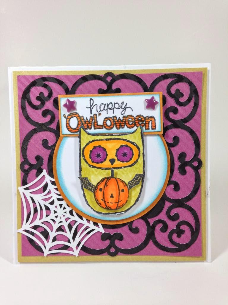 Cricut Artiste 'Owl'oween card