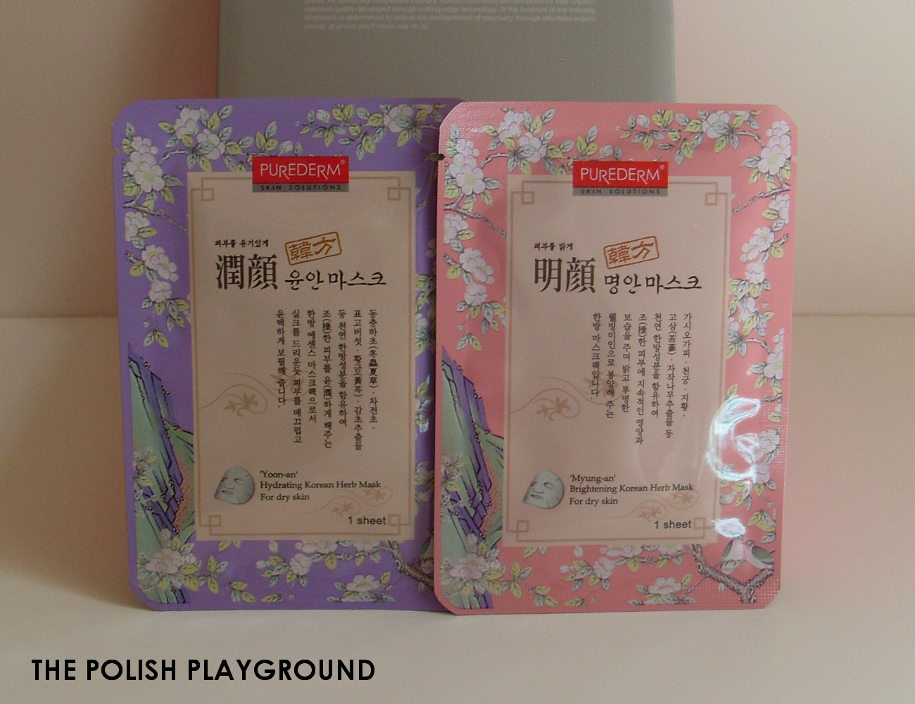 Memebox Special #8 Oriental Medicine Unboxing - Purederm Korean Herb Mask in 'Yoon-an' Hydrating Mask and 'Myung-an' Brightening Mask