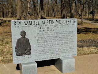 Samuel Worcester plaque at Cherokee Heritage Center