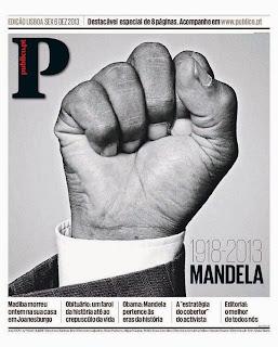 La muerte de Nelson Mandela, en el diario Público