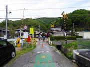 JR中央線武津踏切(諏訪市)