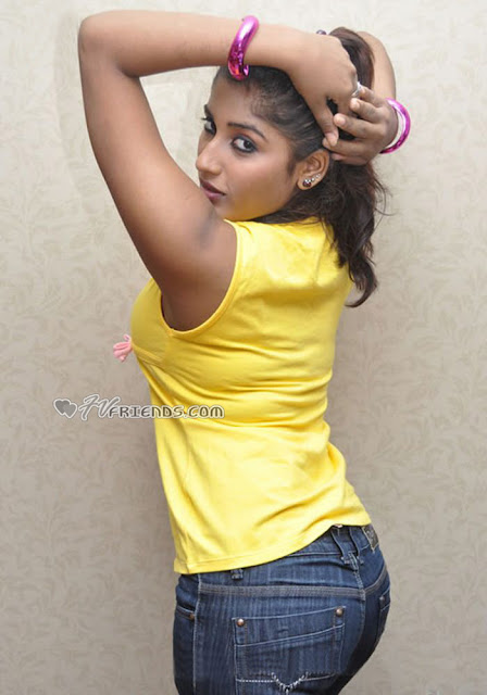 Upcoming sexy acterss Sowmya Krishnan in tight denim and widen legs